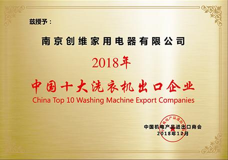 Top ten washing machine export enterprises in China